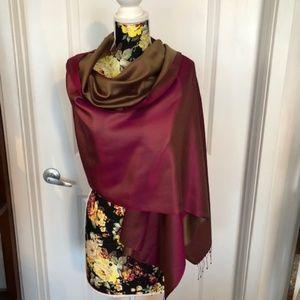 100% Silk Pashmina from India - Reversible